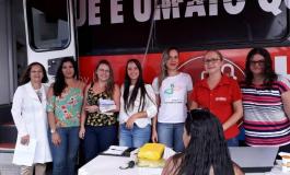 UNIDADE MÓVEL DO HEMOAR REALIZA COLETAS DE SANGUE NO CENTRO DE JACARÉ DOS HOMENS